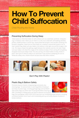 How To Prevent Child Suffocation