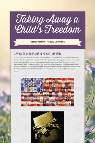 Taking Away a Child's Freedom