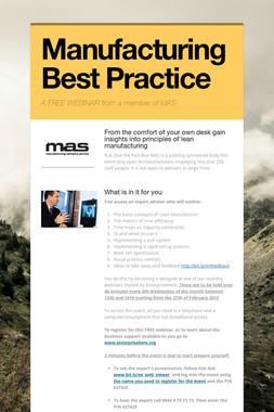 Manufacturing Best Practice