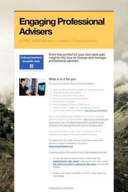 Engaging Professional Advisers