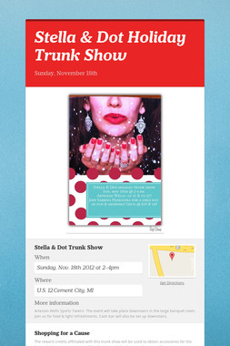 Stella & Dot Holiday Trunk Show