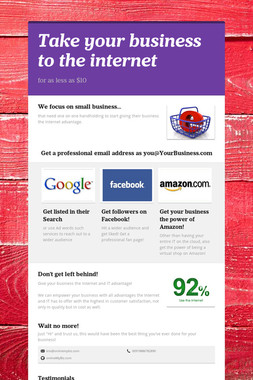 Take your business to the internet