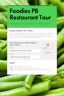 Foodies PB Restaurant Tour