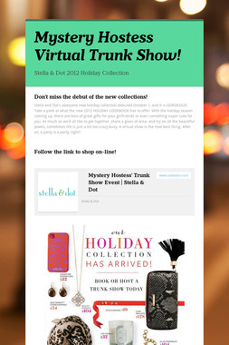 Mystery Hostess Virtual Trunk Show!