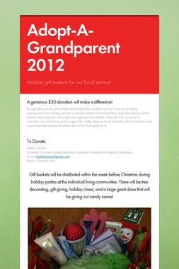 Adopt-A-Grandparent 2012