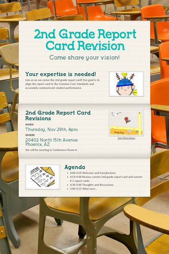 2nd Grade Report Card Revision