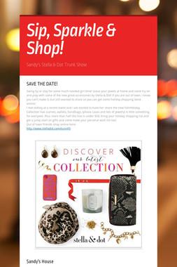 Sip, Sparkle & Shop!