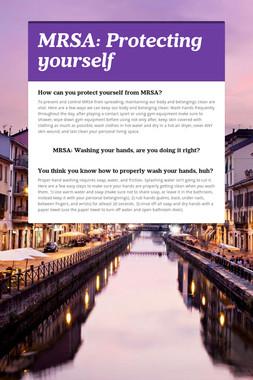 MRSA: Protecting yourself