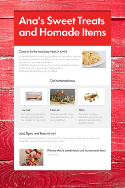 Ana's Sweet Treats and Homade Items