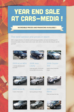 YEAR END SALE AT CARS-MEDIA !