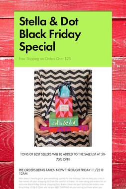 Stella & Dot Black Friday Special