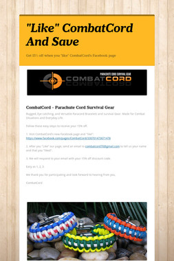 """Like"" CombatCord And Save"