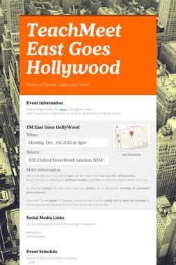 TeachMeet East Goes Hollywood