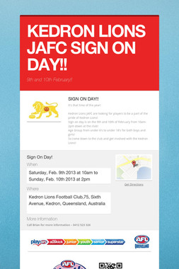 KEDRON LIONS JAFC SIGN ON DAY!!