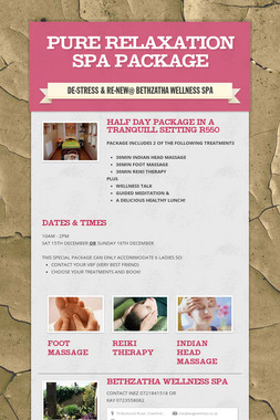 PURE RELAXATION SPA PACKAGE