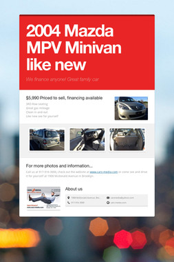 2004 Mazda MPV Minivan like new