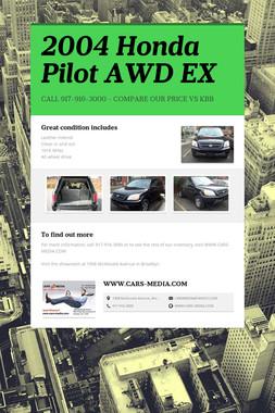 2004 Honda Pilot AWD EX