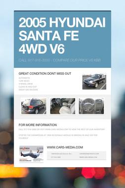 2005 HYUNDAI SANTA FE 4WD V6
