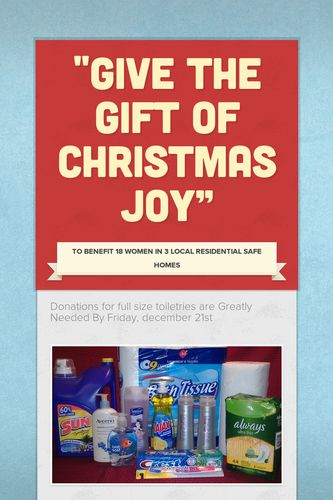"""Give The Gift of Christmas Joy"""