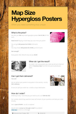 Map Size Hypergloss Posters