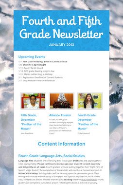 Fourth and Fifth Grade Newsletter
