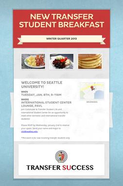 New Transfer Student Breakfast