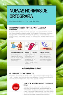 NUEVAS NORMAS DE ORTOGRAFIA