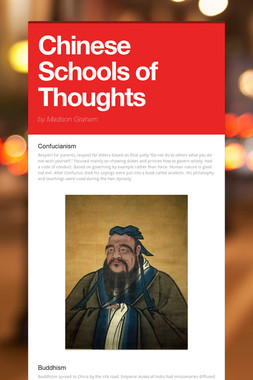 Chinese Schools of Thoughts