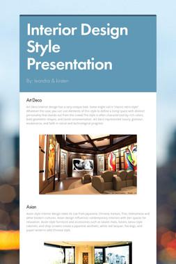 Interior Design Style Presentation