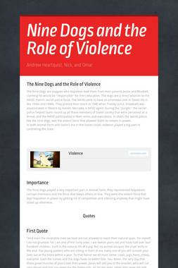 Nine Dogs and the Role of Violence