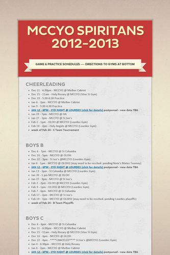 MCCYO Spiritans 2012-2013