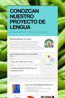 CONOZCAN NUESTRO PROYECTO DE LENGUA