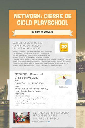 NETWORK: Cierre de Ciclo Playschool