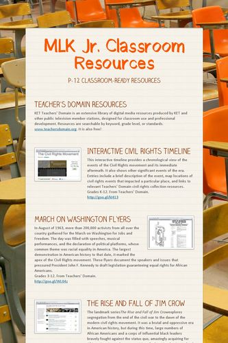 MLK Jr. Classroom Resources