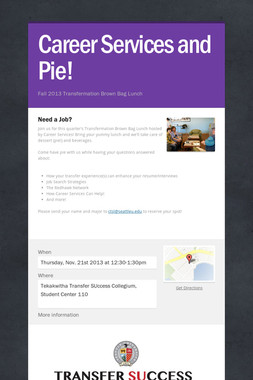 Career Services and Pie!