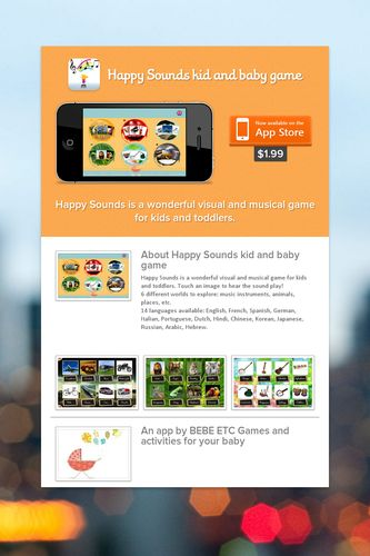 Happy Sounds kid and baby game