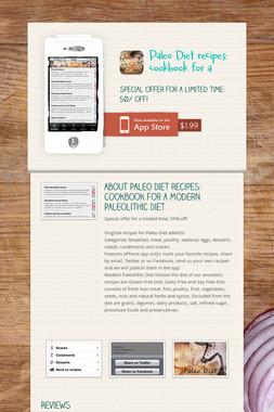 Paleo Diet recipes: cookbook for a