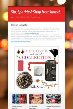 Sip, Sparkle & Shop from home!
