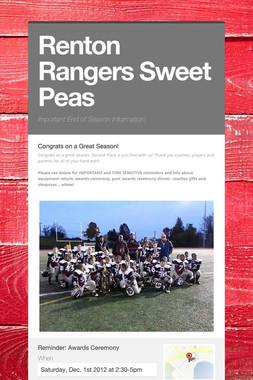 Renton Rangers Sweet Peas