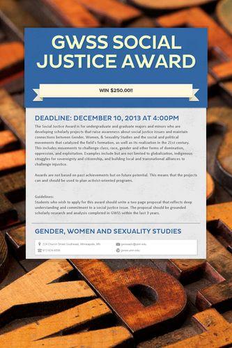 GWSS Social Justice Award