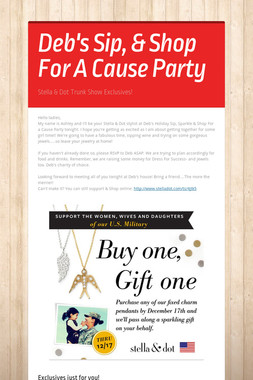 Deb's Sip, & Shop For A Cause Party