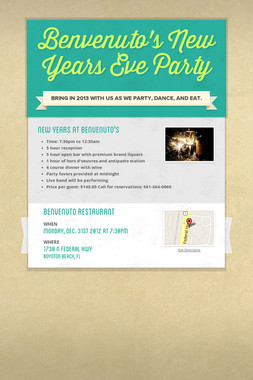 Benvenuto's New Years Eve Party