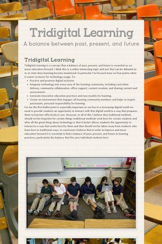 Tridigital Learning