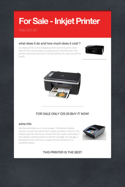 For Sale - Inkjet Printer