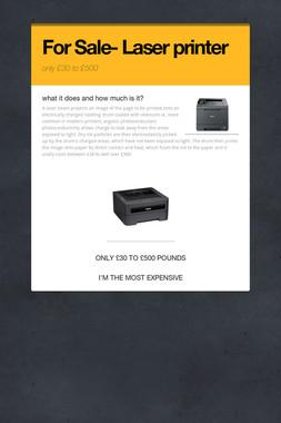For Sale- Laser printer