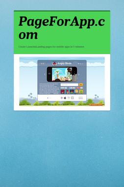 PageForApp.com