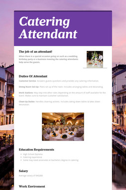 Catering Attendant
