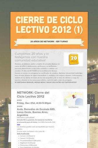 Cierre de Ciclo Lectivo 2012 (1)