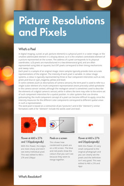 Picture Resolutions and Pixels