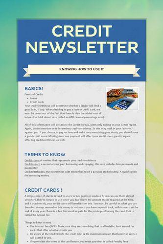 Credit Newsletter